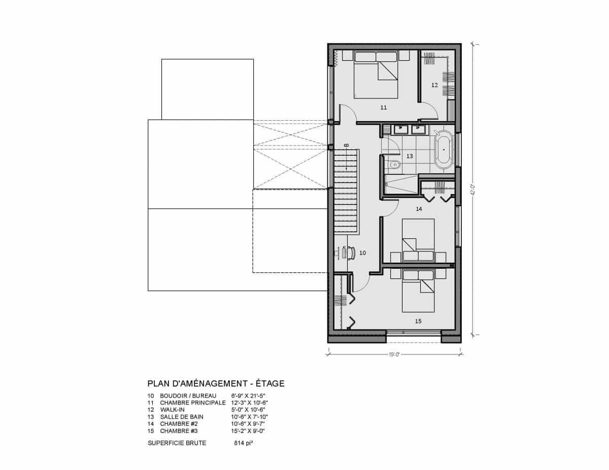 plan de maison étage bergen