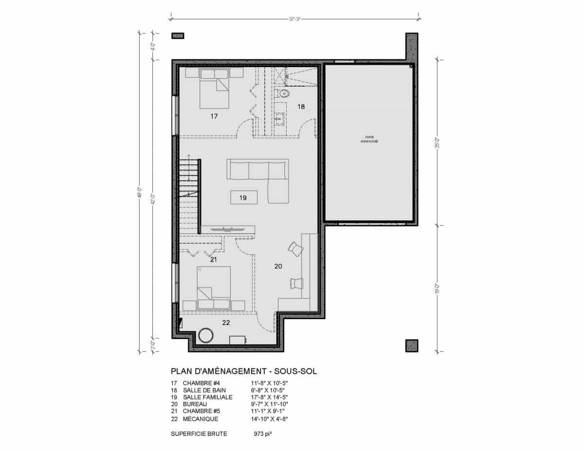 plan de maison scandinave Olso