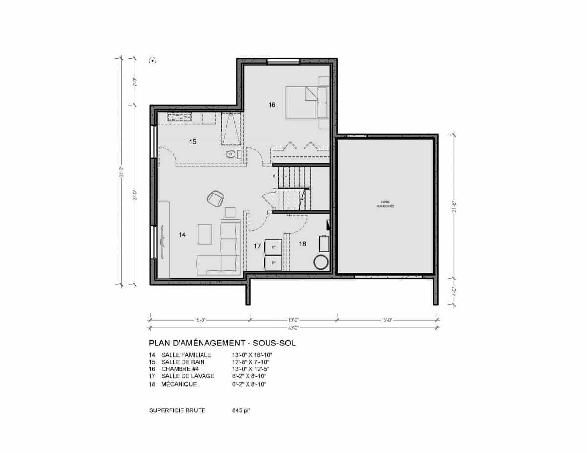 plan de maison nordique moderne Fora