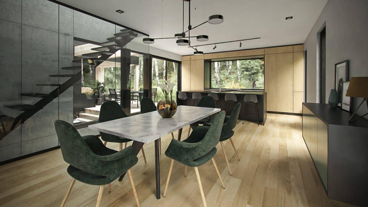 salle à manger et cuisine hygge