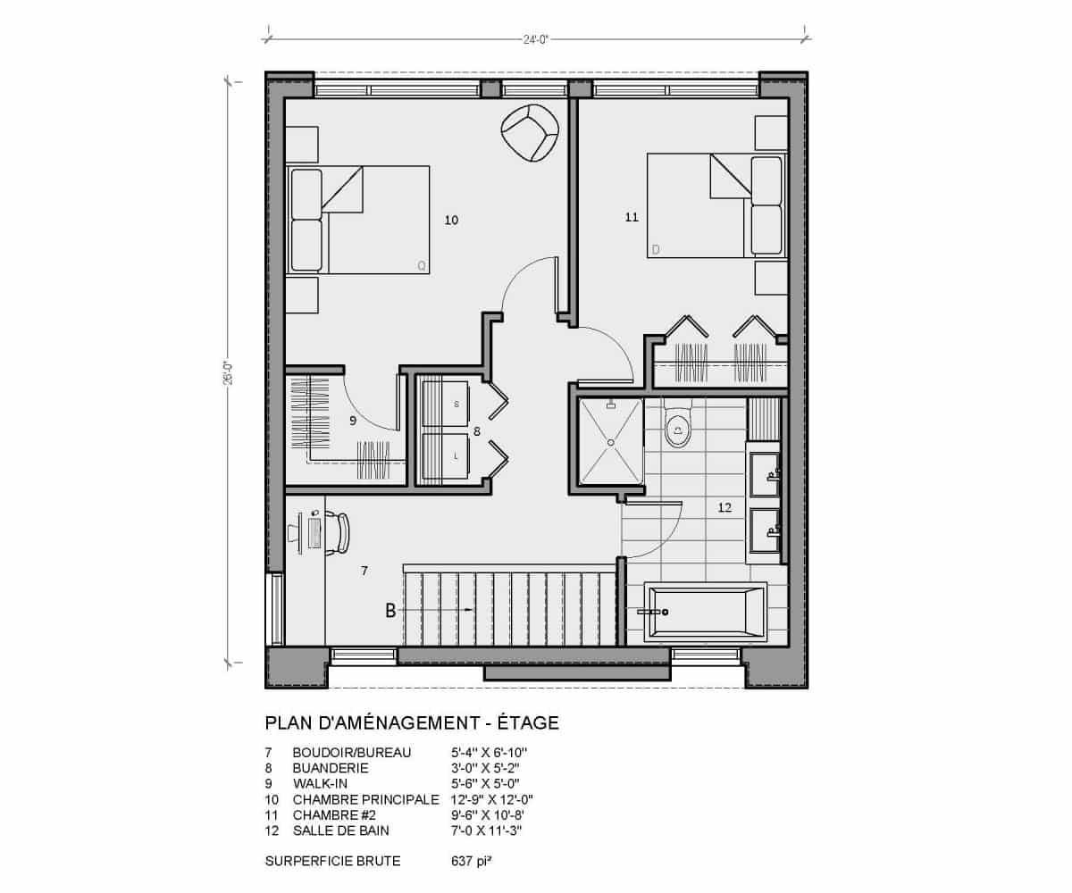 plan de maison étage monterey