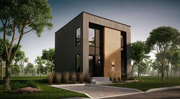 Façade maison moderne plan monterey