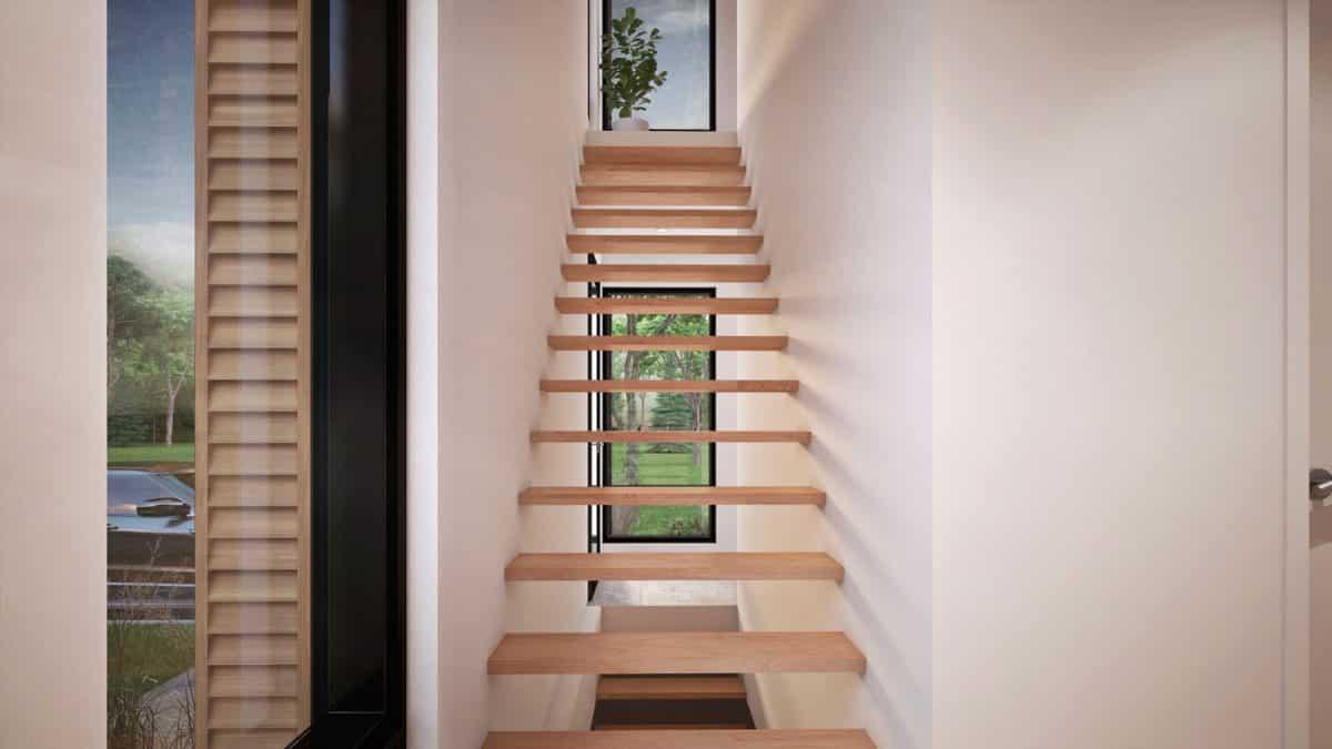 plan de maison escalier design monterey