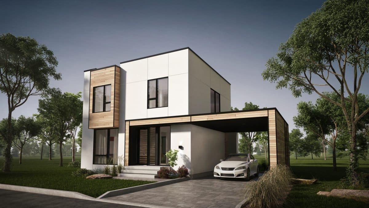 plan de maison façade moderne Mesa