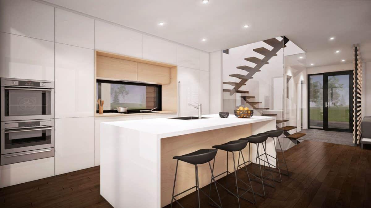 Cuisine plan de maison moderne Mesa