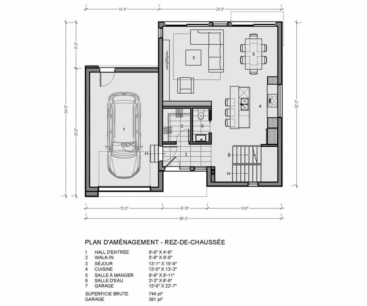 plan de maison rez de chaussée saratoga