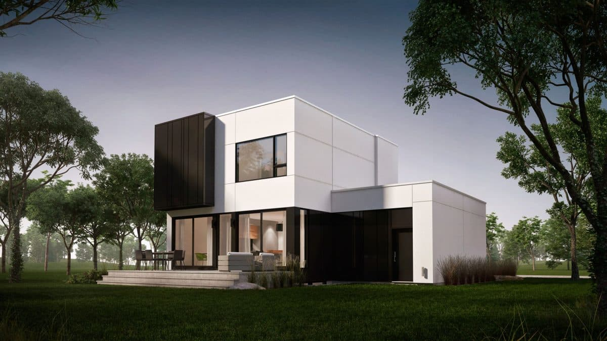 Arrière plan de maison moderne saratoga