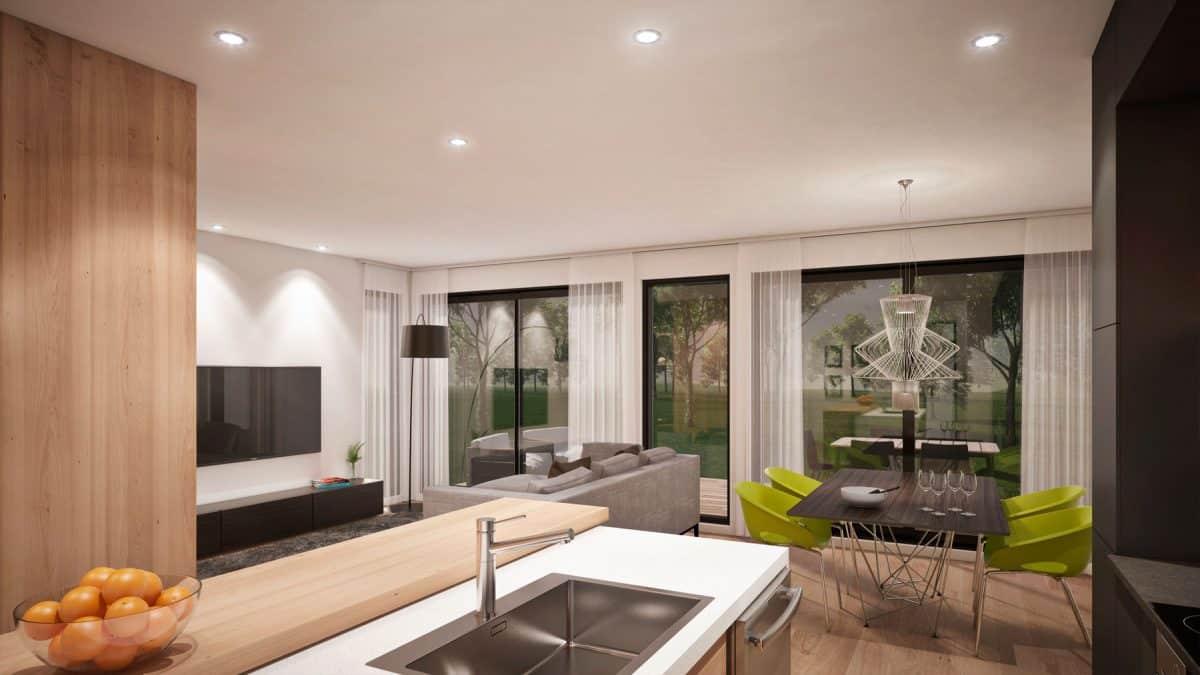 Séjour maison moderne plan saratoga