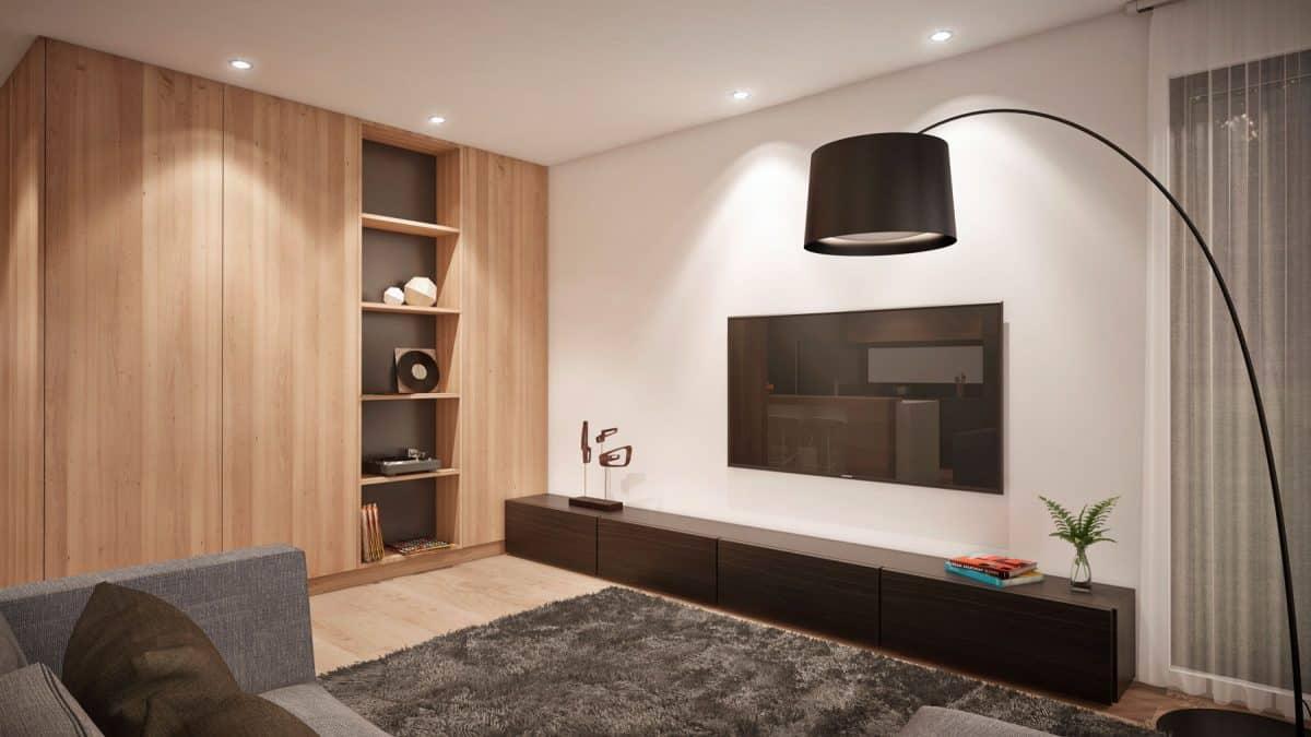Salon plan de maison moderne saratoga