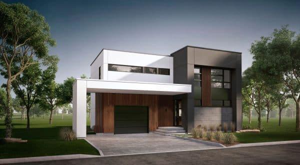 Maison moderne plan en L pasadena