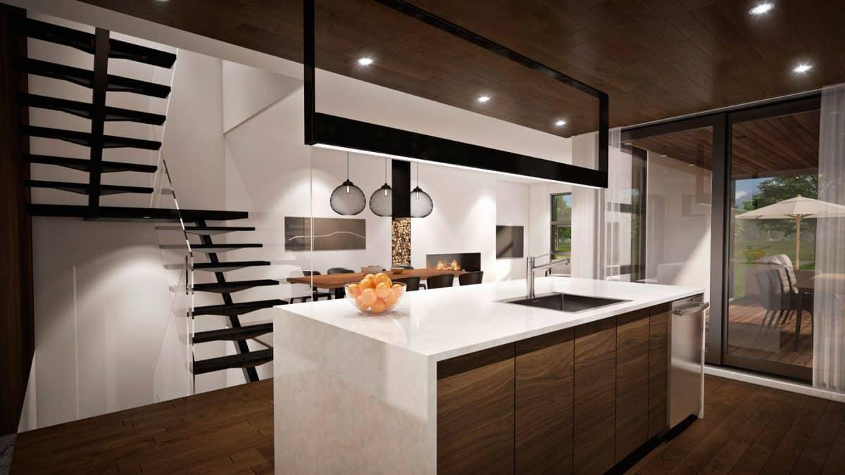 plan de maison cuisine pasadena