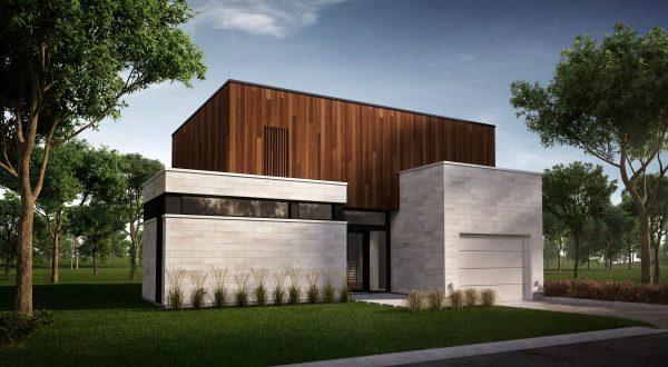 façade maison moderne plan arlington