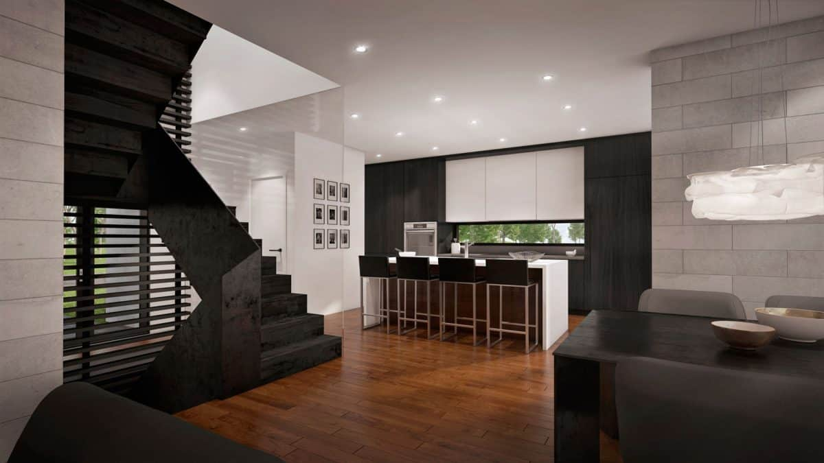 Escalier design plan de maison moderne arlington