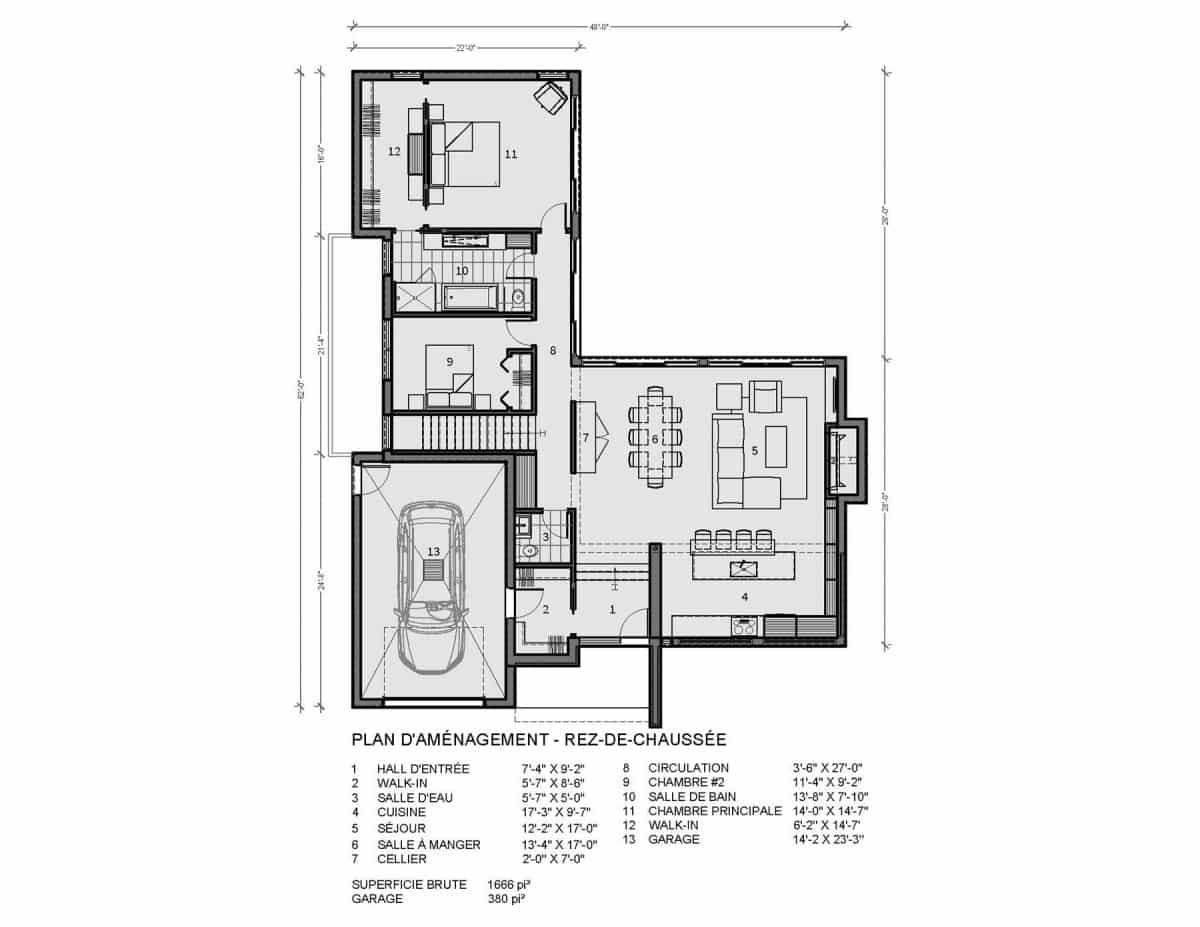 plan de maison rez de chaussée Navarro
