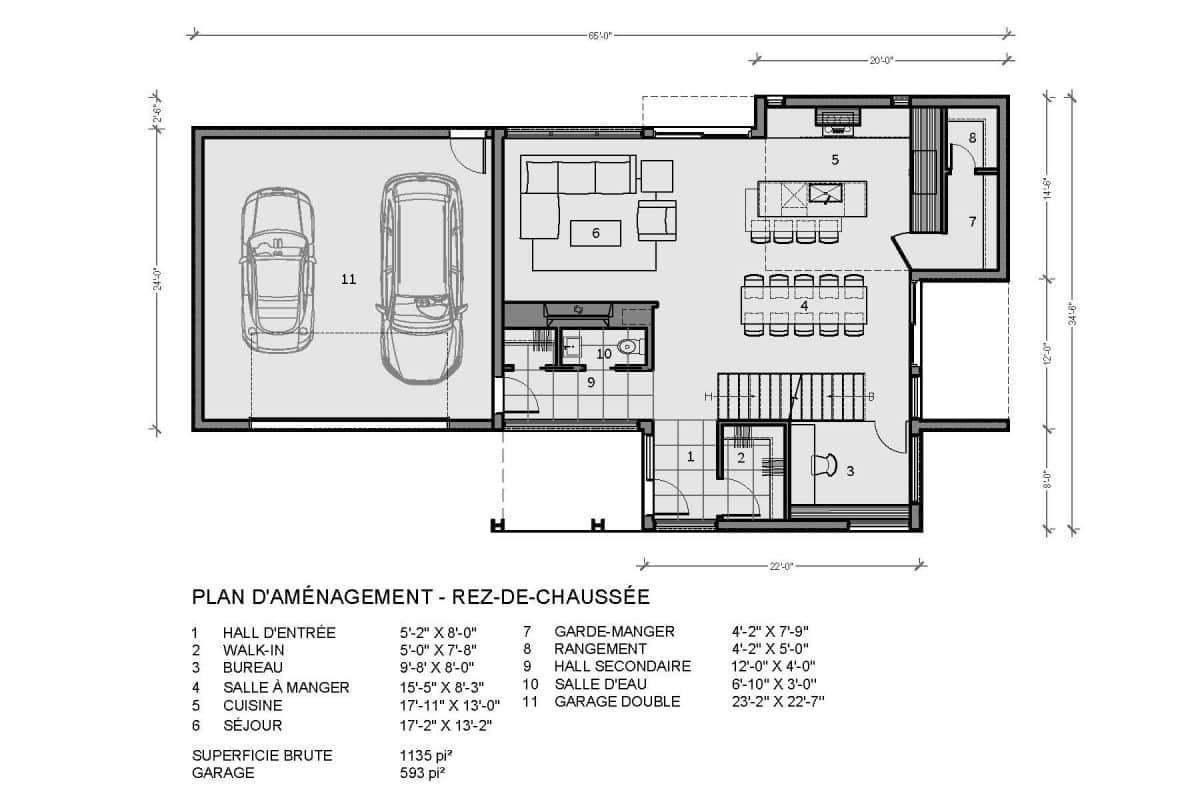 plan de maison rez de chaussée Tahoe