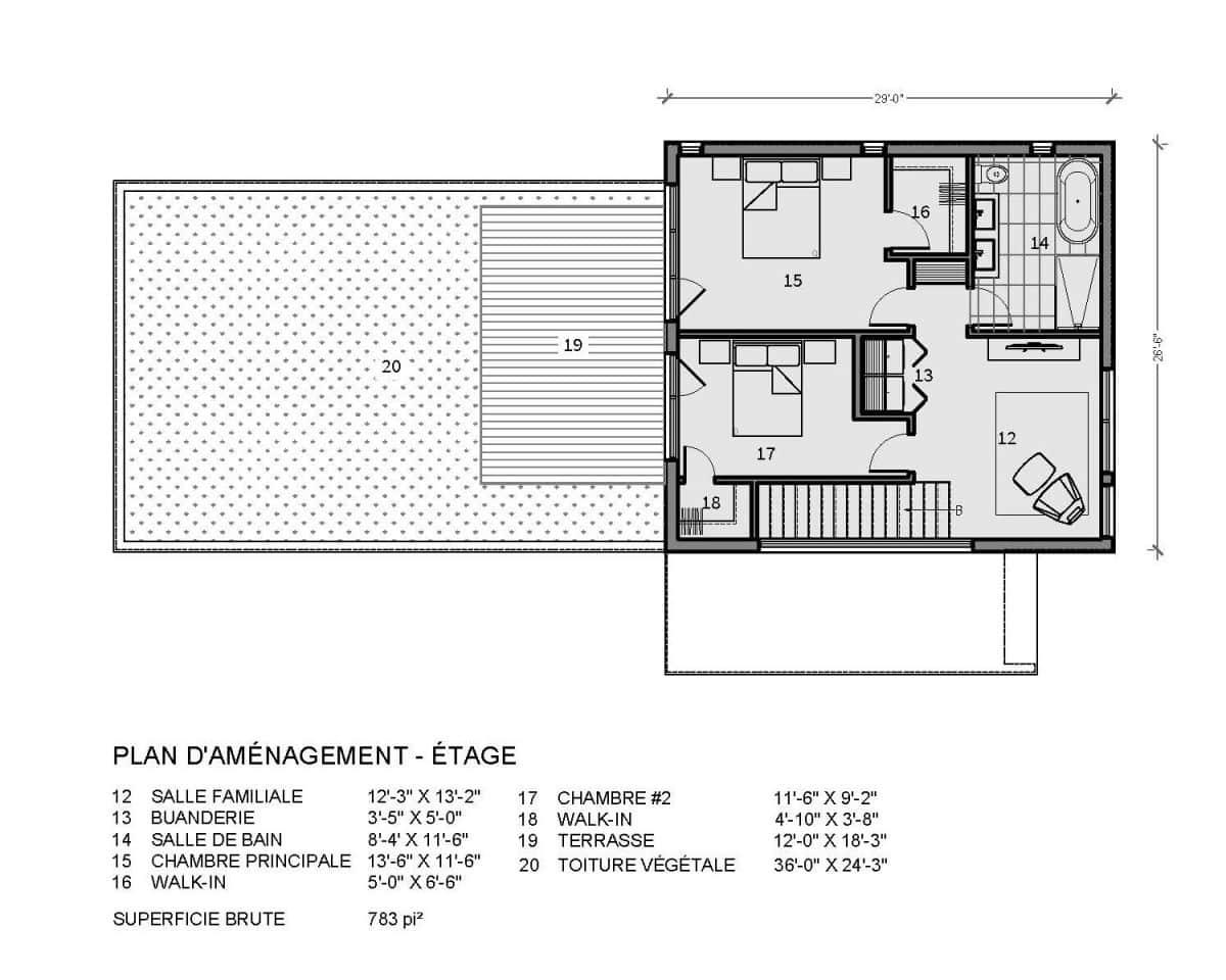 plan de maison étage Tahoe