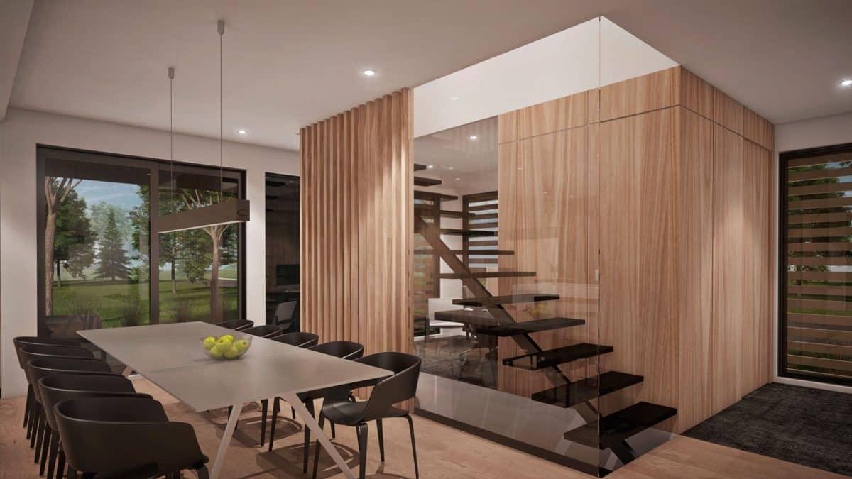 Escalier design plan de maison tahoe