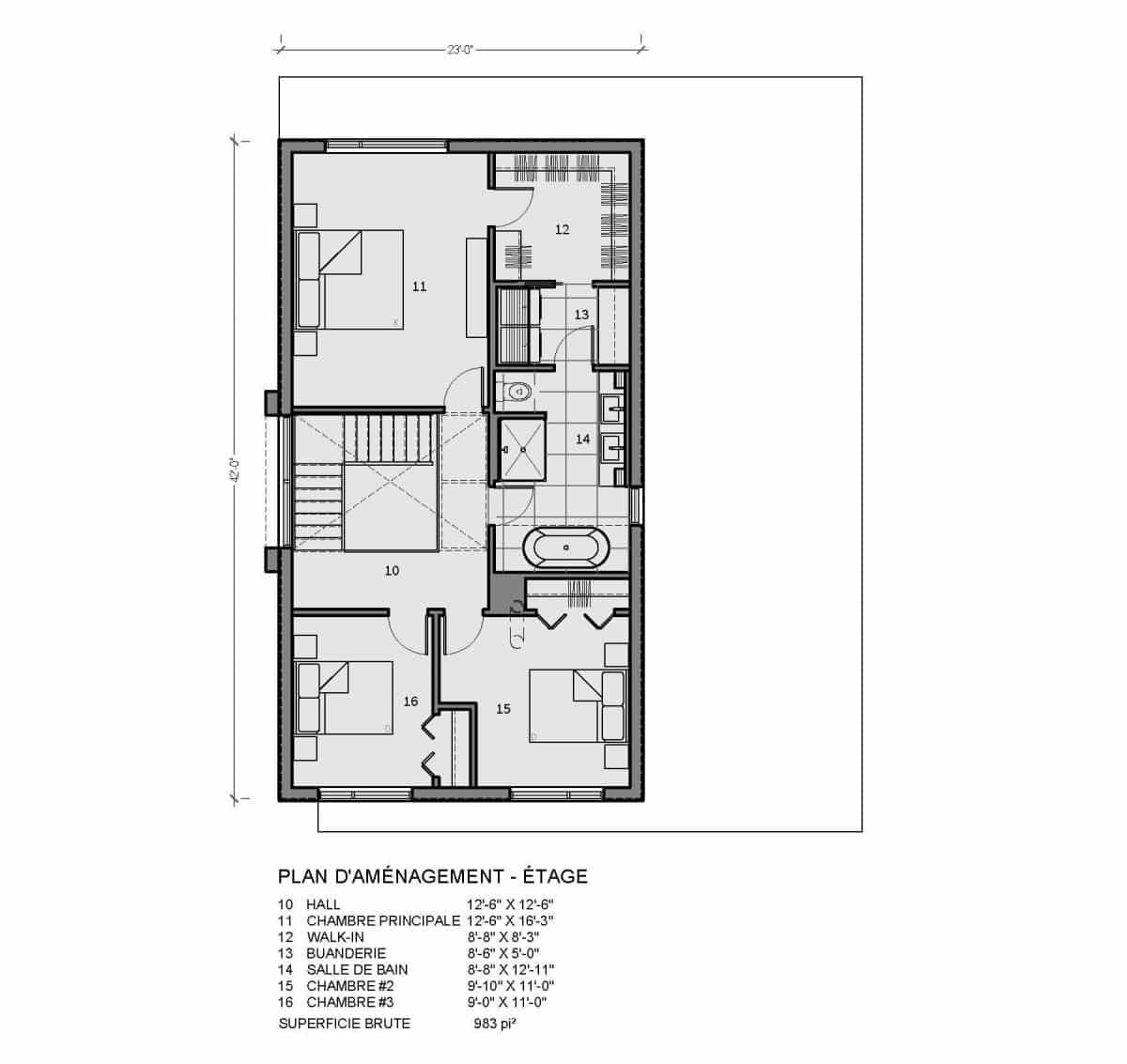 plan de maison étage Oslo