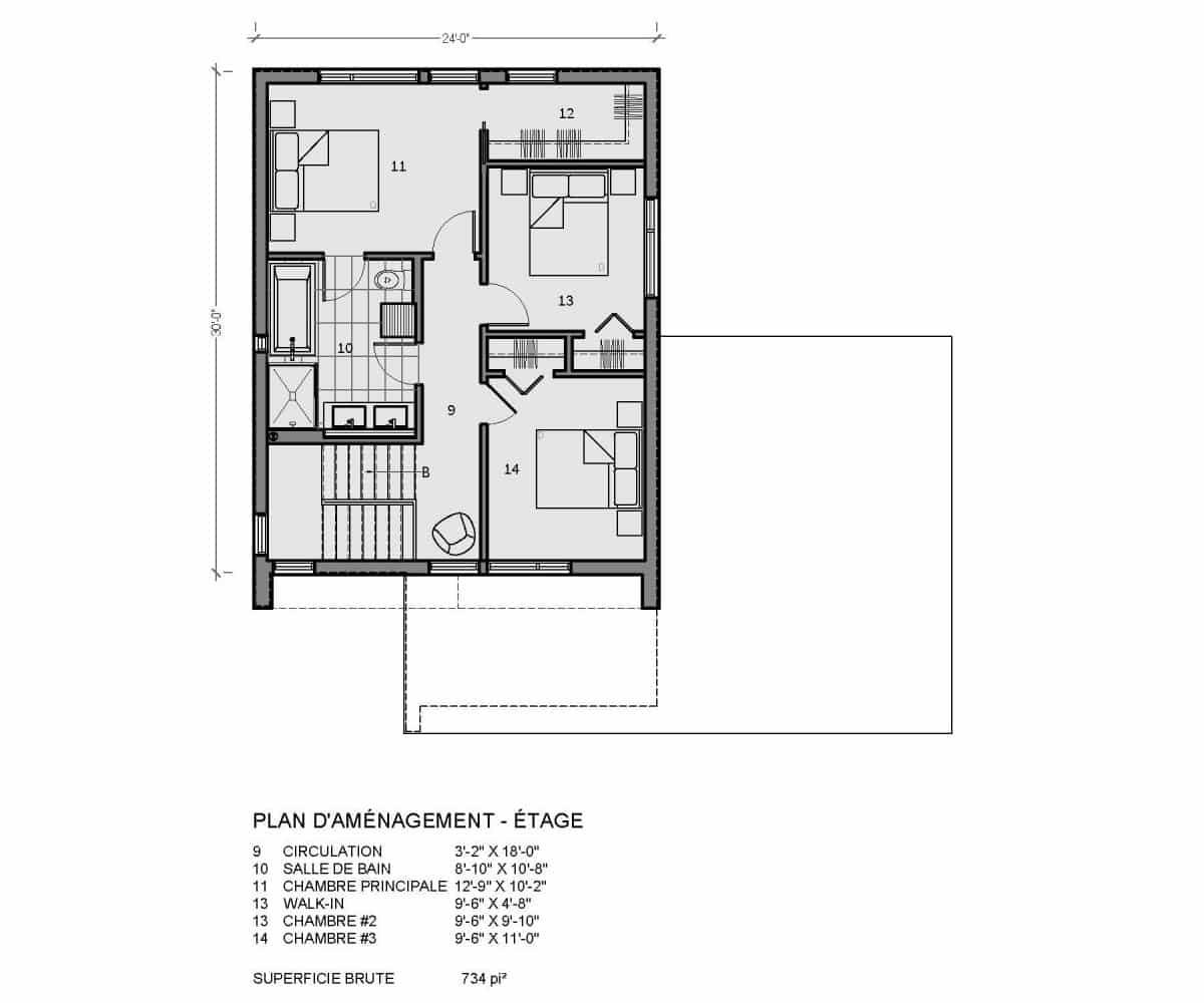 plan de maison étage vik