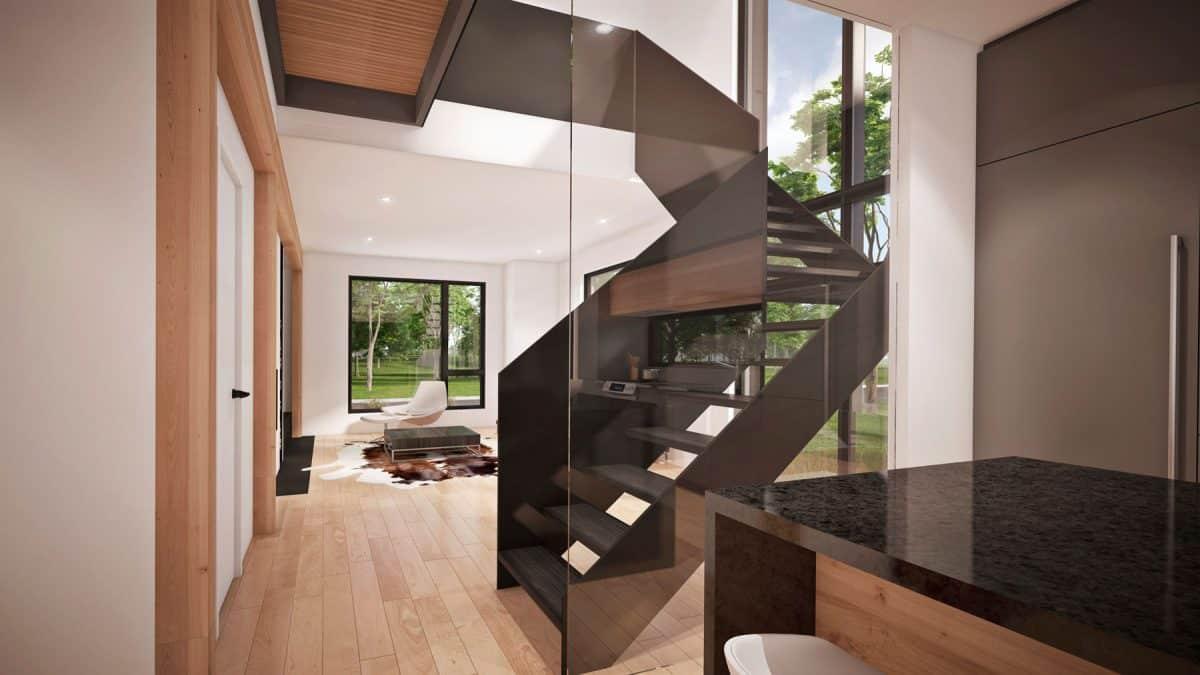 escalier design plan de maison Oslo