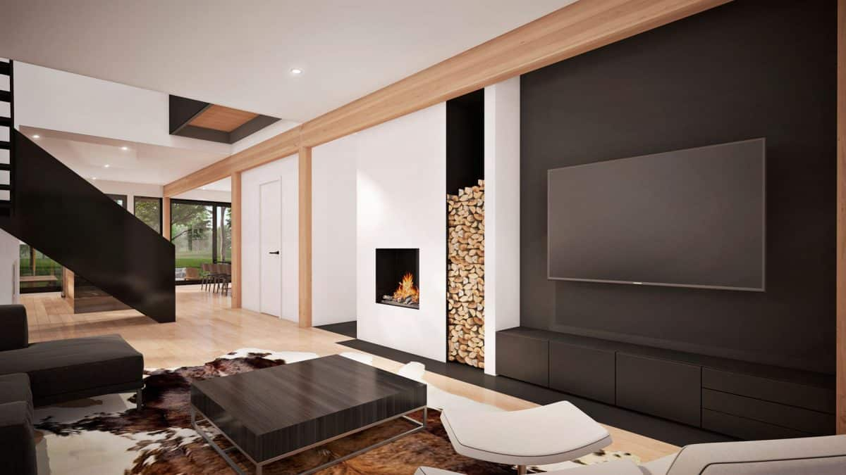 Salon foyer plan de maison Oslo
