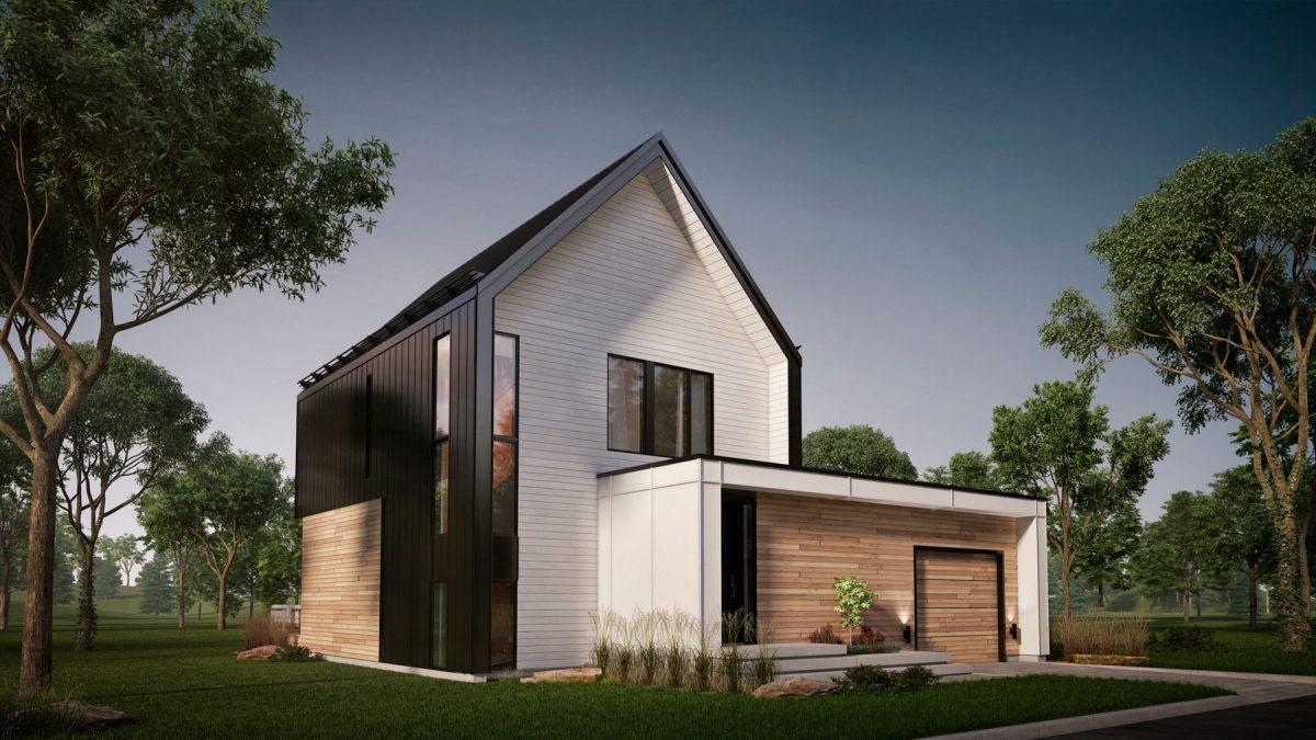 plan de maison scandinave blanche vik