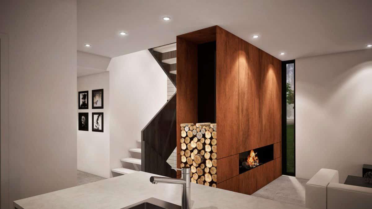 Foyer salon plan de maison vik