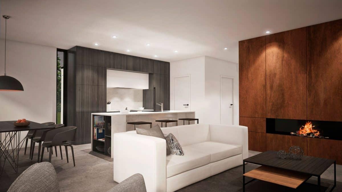 Salon foyer plan de maison vik