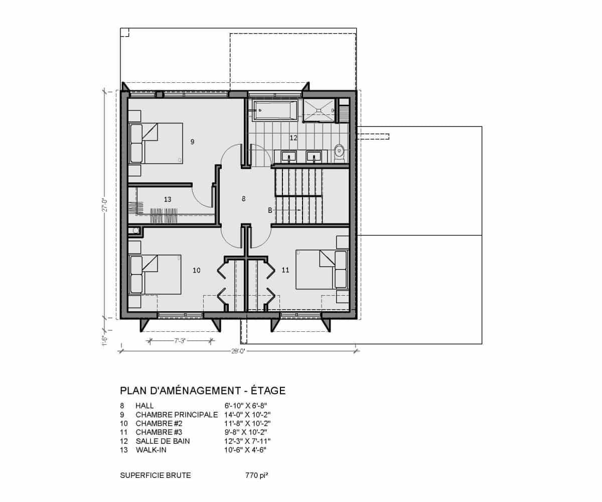 plan de maison étage fora