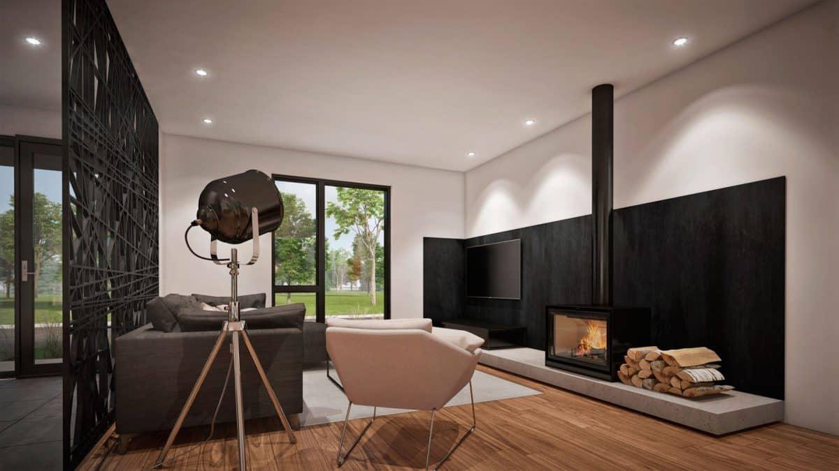 salon foyer plan maison Fora
