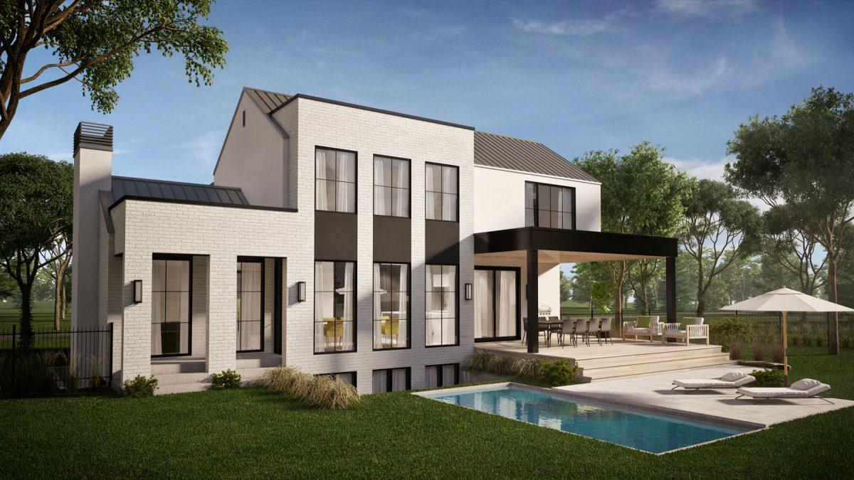 jardin piscine plan de maison bridgeport