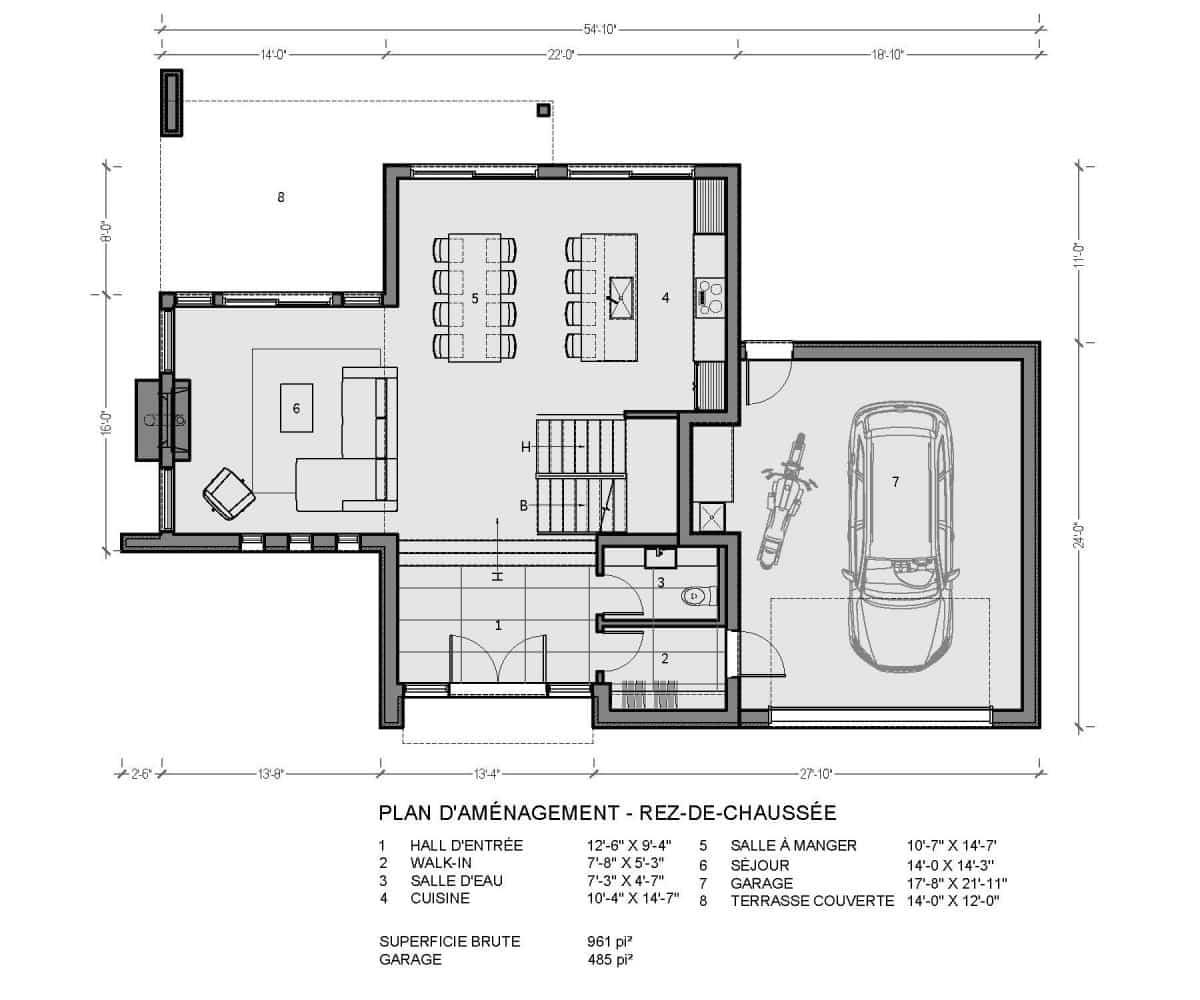 plan de maison rez de chaussée rockwood