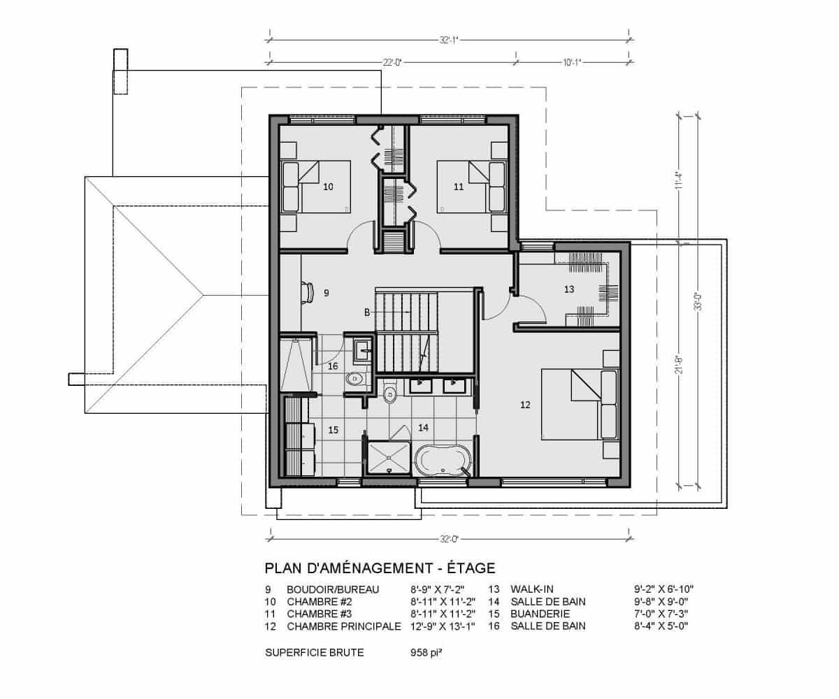 plan de maison farmhouse rockwood