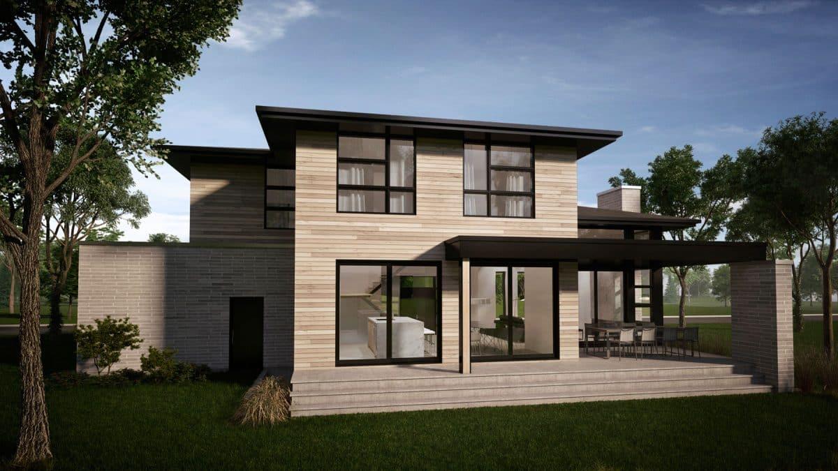 Arrière terrasse couverte plan de maison rockwood