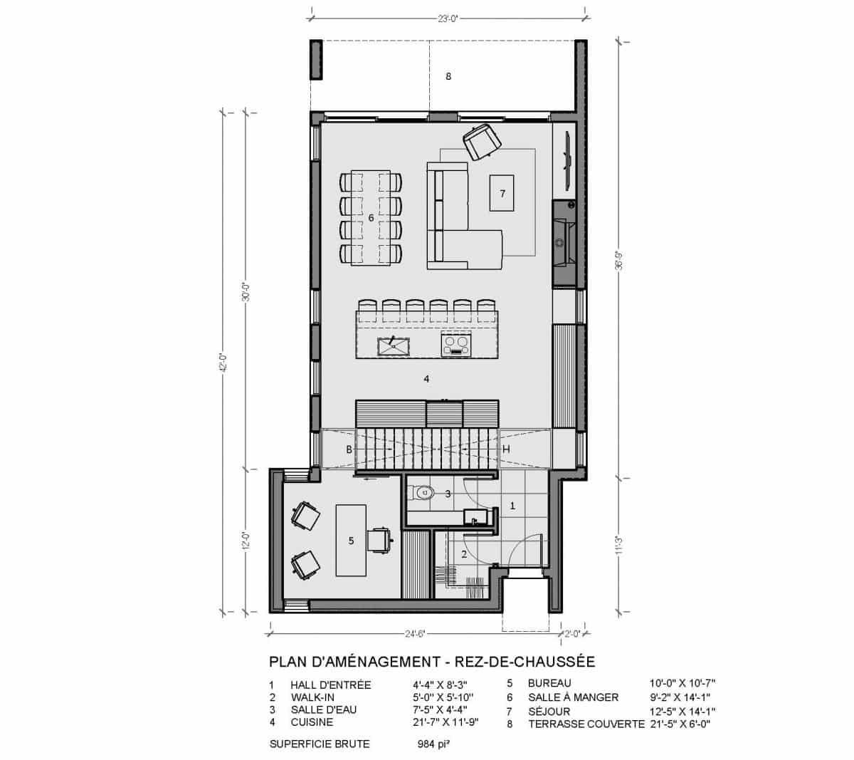 plan de maison rez de chaussée newtown