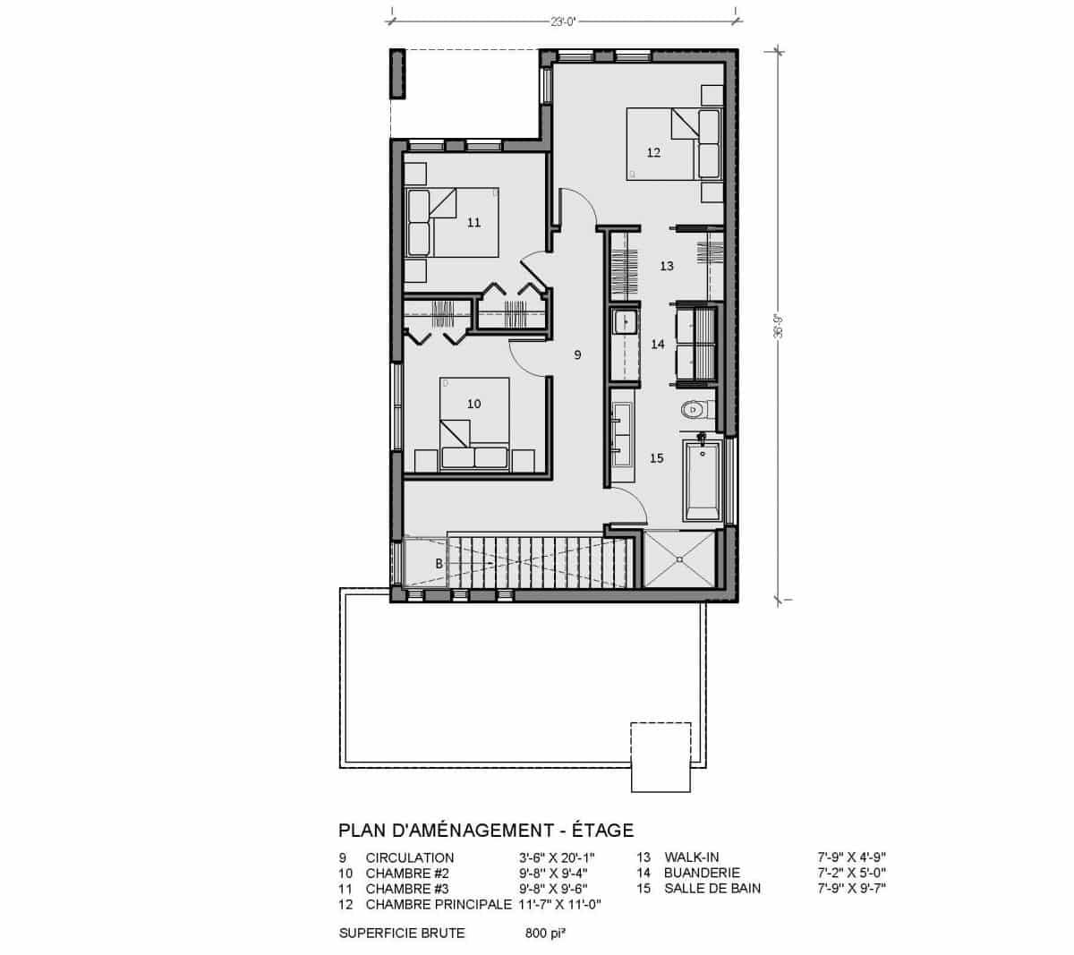 plan de maison newtown