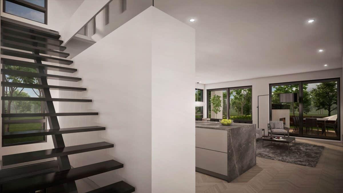design escalier plan de maison newtown