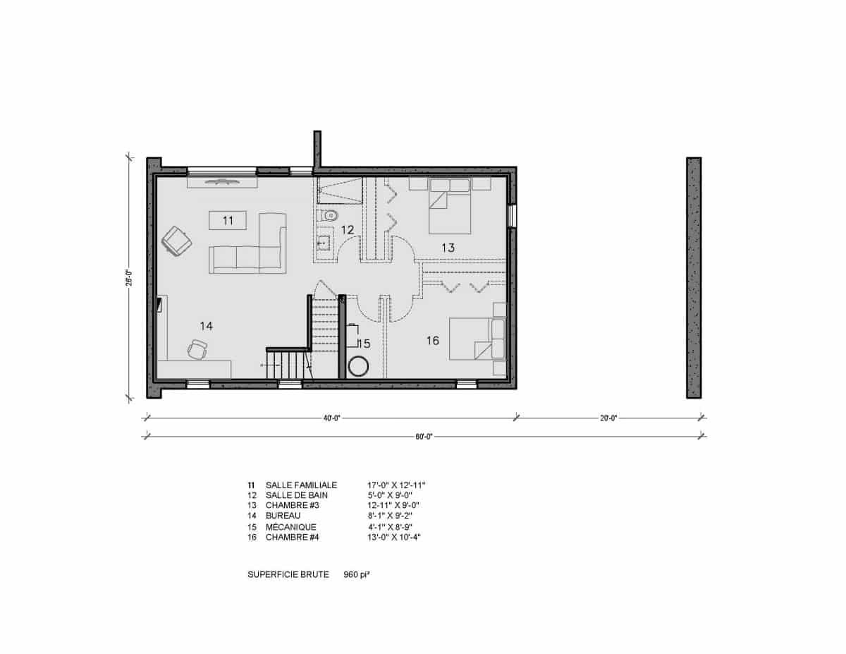 plan de maison Malibu