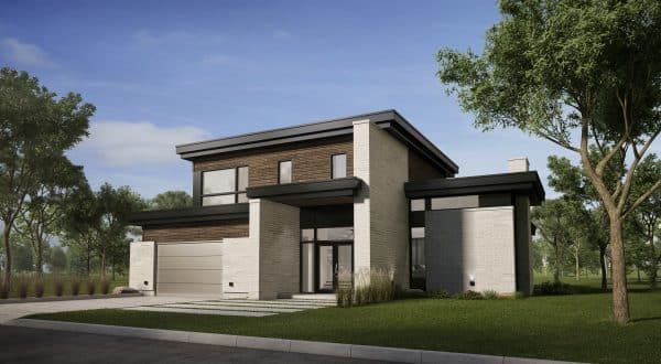 façade maison moderne plan talo