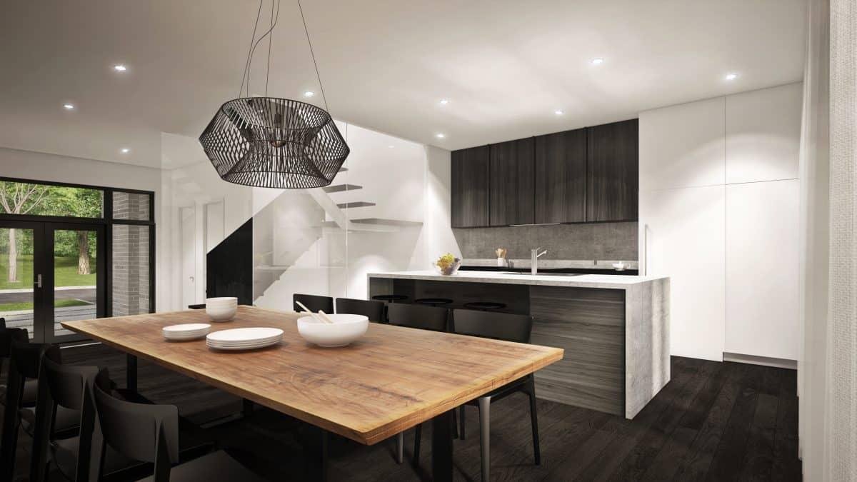 cuisine plan de maison moderne ventura