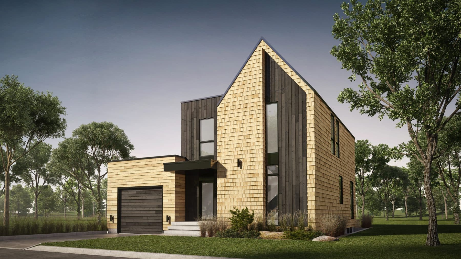 façade maison plan de maison scandinave