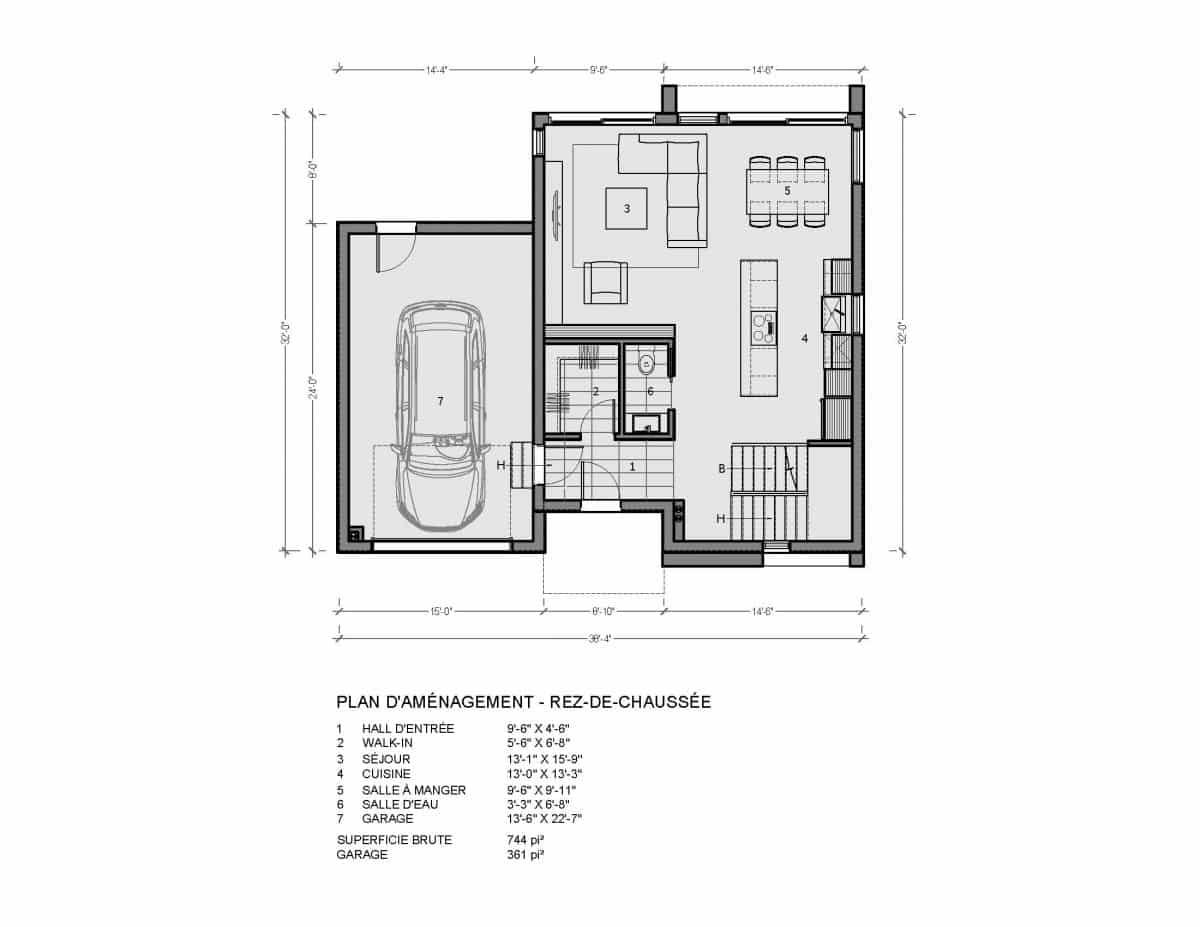 plan de maison rez de chaussée alta