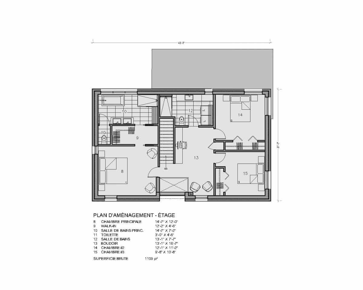 plan de maison étage soho