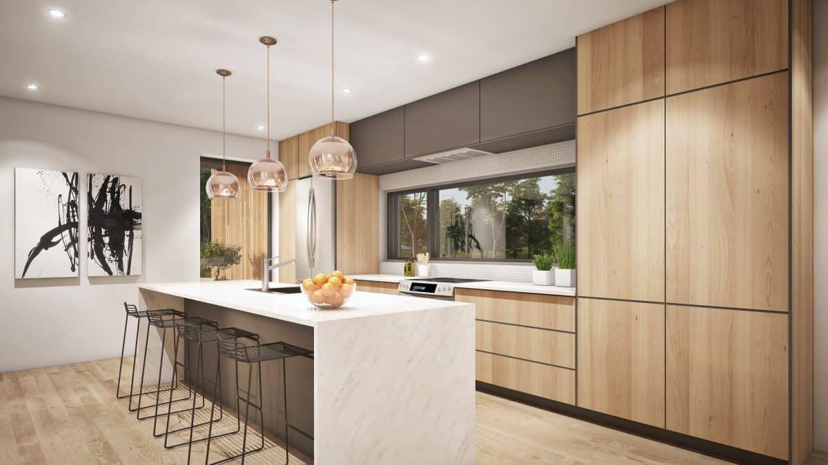 Cuisine design plan de maison Riverside
