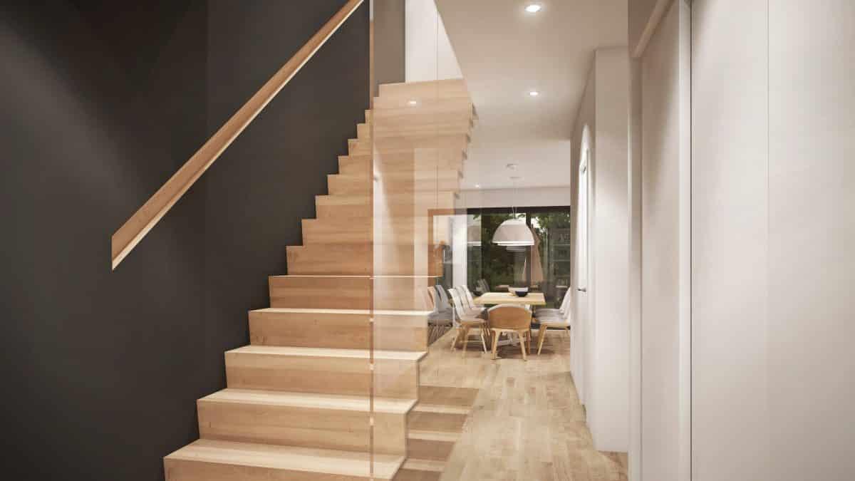 Escalier design plan de maison Riverside