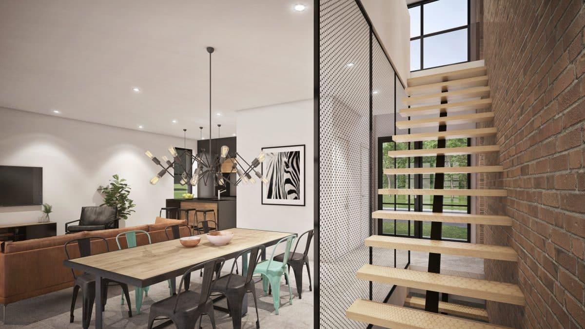 Escalier design plan de maison Soho