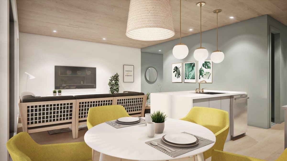 séjour Plan de maison scandinave Solna