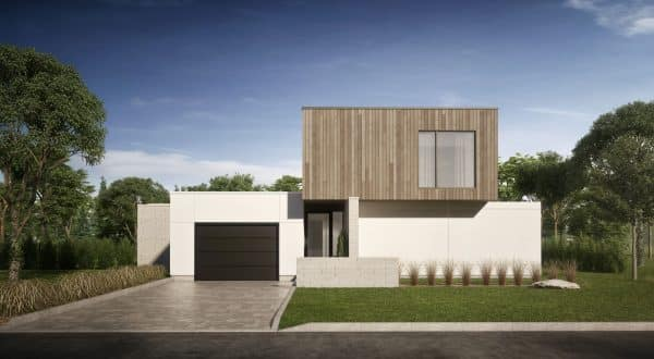 façade maison moderne plan cortez