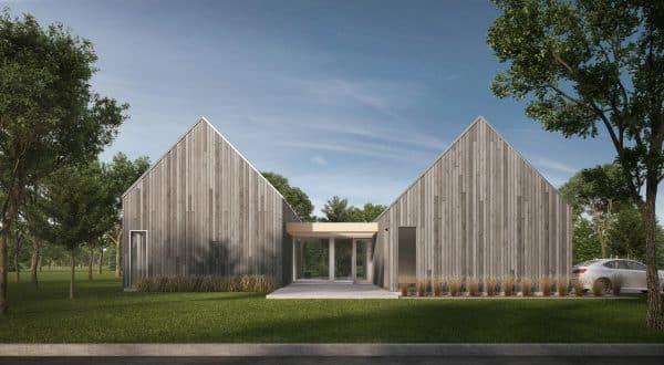 Façade modèle scandinave plan de maison Ydessa