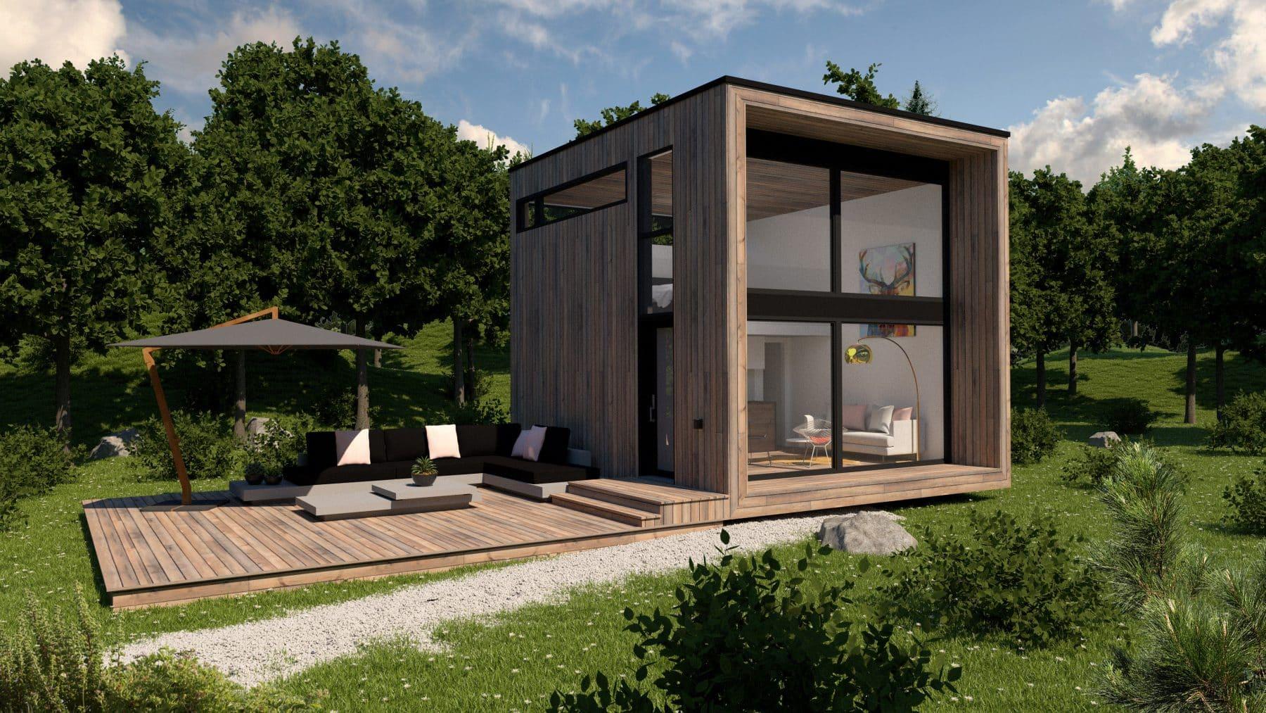 façade mini maison plan Adenia